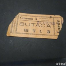 Cine: ENTRADA CINE CINEMA X. 1938 EPOCA GUERRA CIVIL.. Lote 210042101
