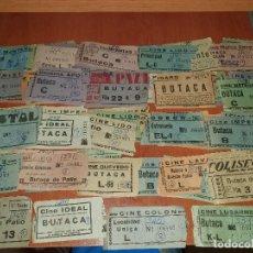 Cine: 75 ENTRADAS DE CINES DE MADRID, RECORTADAS, TODAS DE 1961, CON ANOTACIONES ESCRITAS. Lote 210285283