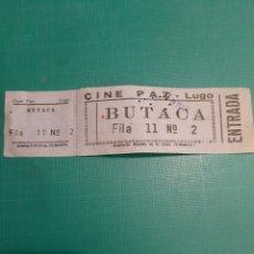 Cine: 1973 LUGO ENTRADA CINE PAZ EDITA GRAFOS MADRID. Lote 212719208