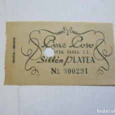 Cine: CINE COSO-SILLON PLATEA-ENTRADA ANTIGUA-VER FOTOS-(V-21.632). Lote 212790357