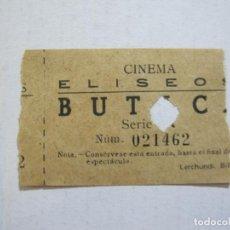 Cine: CINEMA ELISEOS-BUTACA-ENTRADA ANTIGUA-VER FOTOS-(V-21.638). Lote 212790851