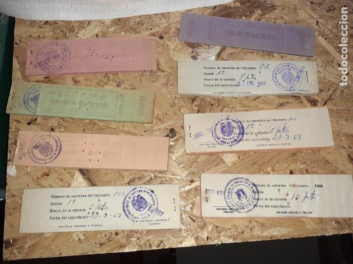 Cine: LOTE DE TACOS DE ENTRADAS DE CINE SANTA CRUZ DE MUDELA AÑOS 60/70 - Foto 2 - 214309338