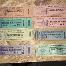 Cine: LOTE DE TACOS DE ENTRADAS DE CINE SANTA CRUZ DE MUDELA AÑOS 60/70. Lote 214309397