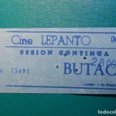 Cine: ENTRADA DE CINE - CINE LEPANTO - MADRID - BUTACA - SESIÓN CONTINUA -. Lote 215154400