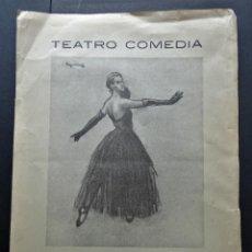 Cine: PROGRAMA DEL TEATRO COMEDIA DEL AÑO 1944. VER FOTOGRAFIAS. Lote 216999642