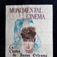 Cine: HOJA COMPLETA DE ENTRADAS DE LA PELÍCULA LA DAMA DE NUEVA ORLEANS DE 1943.. Lote 218210572