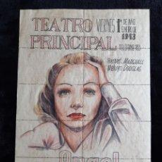"""Cine: PÁGINA DE ENTRADAS DE LA PELÍCULA """" ÁNGEL """" ( EL ÁNGEL AZUL ) DE 1943.. Lote 218210937"""
