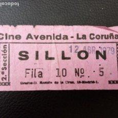 Cine: ENTRADA DE CINE AVENIDA - LA CORUÑA AÑOS 70. Lote 218891108