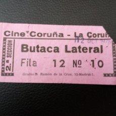 Cine: ENTRADA DE CINE CORUÑA - LA CORUÑA AÑOS 70. Lote 218891373