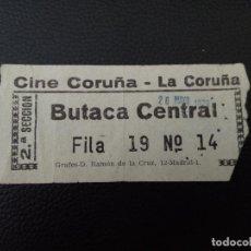 Cine: ENTRADA DE CINE CORUÑA - CORUÑA - AÑOS 70. Lote 218892142