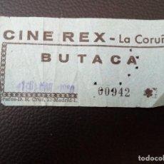 Cine: ENTRADA DE CINE REX - CORUÑA - AÑOS 70. Lote 218892402
