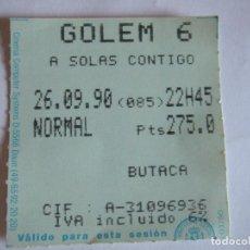Cine: ENTRADA CINES GOLEM PAMPLONA - 1990 - PELICULA A SOLAS CONTIGO. Lote 220136832