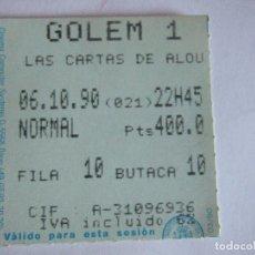 Cine: ENTRADA CINES GOLEM PAMPLONA - 1990 - PELICULA LAS CARTAS DE ALOU. Lote 220136862