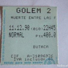 Cine: ENTRADA CINES GOLEM PAMPLONA - 1990 - PELICULA MUERTE ENTRE LAS FLORES. Lote 220136917