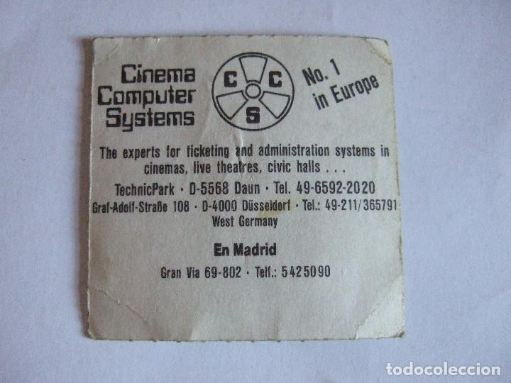 Cine: ENTRADA CINES GOLEM PAMPLONA - 1991 - PELICULA EL NOVATO - Foto 2 - 220137006