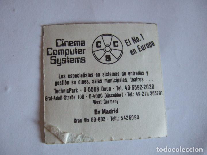Cine: ENTRADA CINES GOLEM PAMPLONA - 1991 - PELICULA LAS EDADES DE LULU - Foto 2 - 220137040