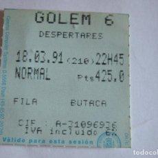 Cine: ENTRADA CINES GOLEM PAMPLONA - 1991 - PELICULA DESPERTARES. Lote 220137105