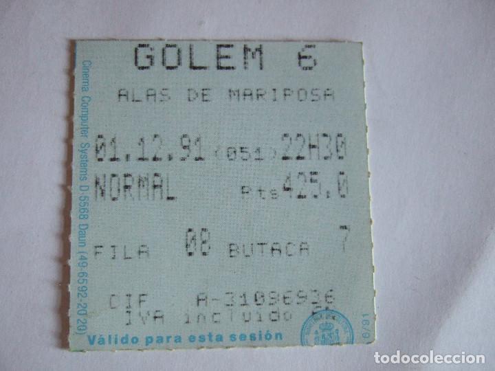 ENTRADA CINES GOLEM PAMPLONA - 1991 - PELICULA ALAS DE MARIPOSA (Cine - Entradas)