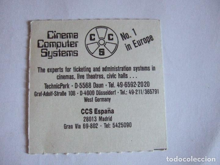 Cine: ENTRADA CINES GOLEM PAMPLONA - 1991 - PELICULA ALAS DE MARIPOSA - Foto 2 - 220137273