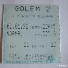 Cine: ENTRADA CINES GOLEM PAMPLONA - 1992 - PELICULA LA PEQUEÑA PICARA. Lote 220167910