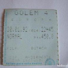 Cine: ENTRADA CINES GOLEM PAMPLONA - 1992 - PELICULA EUROPA. Lote 220168525