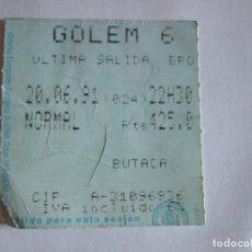 Cine: ENTRADA CINES GOLEM PAMPLONA - 1991 - PELICULA ULTIMA SALIDA BROOKLYN. Lote 220169032