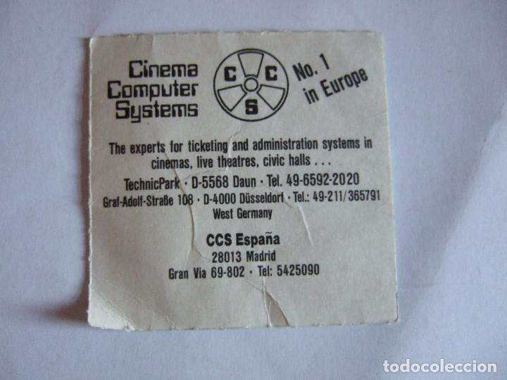 Cine: ENTRADA CINES GOLEM PAMPLONA - 1991 - PELICULA ULTIMA SALIDA BROOKLYN - Foto 2 - 220169032