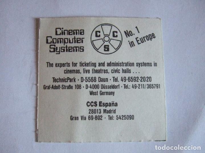 Cine: ENTRADA CINES GOLEM PAMPLONA - 1991 - PELICULA MATRIMONIO DE CONVENIENCIA - Foto 2 - 220171023