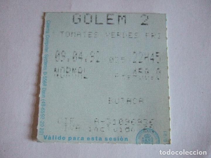 ENTRADA CINES GOLEM PAMPLONA - 1992 - PELICULA TOMATES VERDES FRITOS (Cine - Entradas)