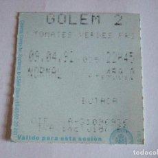 Cine: ENTRADA CINES GOLEM PAMPLONA - 1992 - PELICULA TOMATES VERDES FRITOS. Lote 220171793