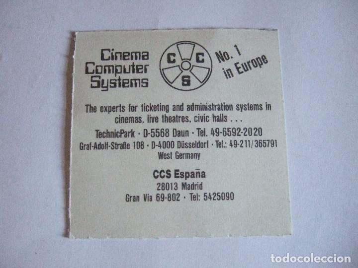 Cine: ENTRADA CINES GOLEM PAMPLONA - 1992 - PELICULA TOMATES VERDES FRITOS - Foto 2 - 220171793