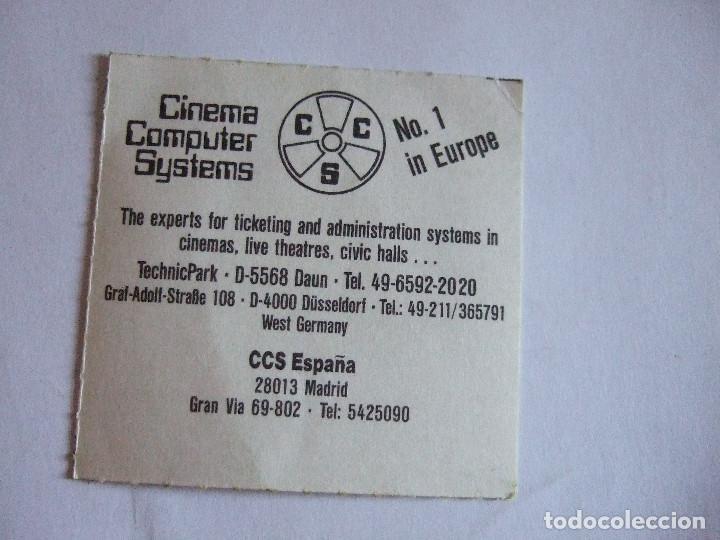 Cine: ENTRADA CINES GOLEM PAMPLONA - 1991 - PELICULA AMANTES - Foto 2 - 220172322