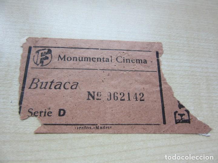 ENTRADA MONUMENTAL CINEMA DE MADRID AÑOS 40 (Cine - Entradas)