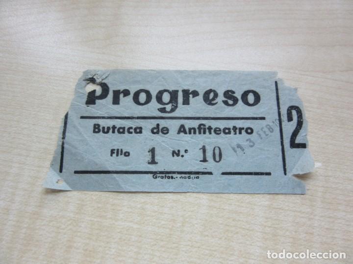 ENTRADA CINE PROGRESO DE MADRID AÑOS 40 (Cine - Entradas)