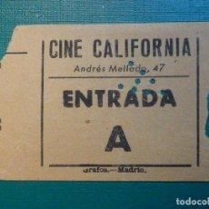 Cinéma: ENTRADA DE CINE - CALIFORNIA - ANDRÉS MELLADO, 47 - A - NARANJA -. Lote 220977317
