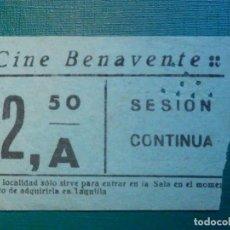 Cinéma: ENTRADA DE CINE - CINE BENAVENTE - SESIÓN CONTINUA 2,50 PESETAS A - AÑOS 50,S - ZAMORA? MADRID?. Lote 220998582