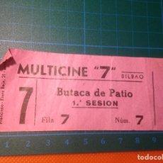 Cine: ENTRADA CINE MULTICINES 7 BILBAO - SALA 7 - FILA 7 - NÚMERO 7 - 1ª SESIÓN BRAVEHEART. Lote 221600392