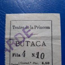 Cinéma: ENTRADA TEATRO DE LA PRINCESA 1916 MADRID. VER REVERSO. Lote 222644715