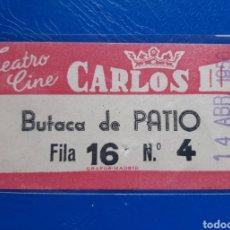 Cinéma: CINE CARLOS III MADRID 1956. Lote 222668117