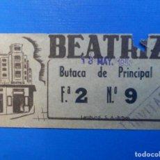 Cine: ENTRADA DE CINE - BEATRIZ - BILBAO - 13 DE MAYO DE 1953. Lote 222851698