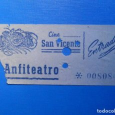Cine: ENTRADA DE CINE - SAN VICENTE - ANFITEATRO - AÑOS 50´S 60´S. Lote 222851721