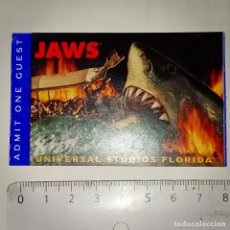 Cine: INVITACIÓN ENTRADA A UNIVERSAL STUDIOS FLORIDA PELÍCULA JAWS (TIBURÓN). Lote 222987791