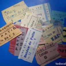 Cine: BONITA COLECCIÓN LOTE 33 ENTRADAS CINE - SE MUESTRAN TODAS - VALENCIA, MADRID Y BARCELONA, 50´S 60´S. Lote 223091246