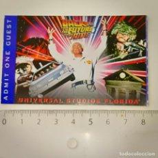 Cine: INVITACIÓN ENTRADA A UNIVERSAL STUDIOS FLORIDA PELÍCULA BACK TO THE FUTURE (REGRESO AL FUTURO). Lote 223129808