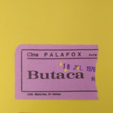 Cine: 2 ENTRADAS DEL ANTIGUO CINE PALAFOX . PATERNA - VALENCIA. Lote 223482865