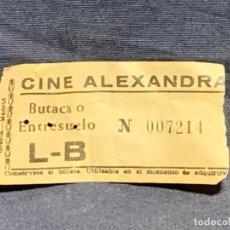 Cine: ENTRADA CINE ALEXANDRA BUTACA ENTRESUELO L B MADRID 4X9CMS. Lote 225800150