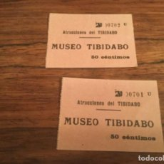 Cine: ENTRADA MUSEO TIBIDABO PARQUE ATRACCIONES. Lote 226359110