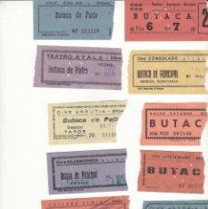 Cinéma: 11 ENTRADAS DE CINES DE BILBAO AÑO 1972 / REVERSO CON FECHA Y PELICULA A MANO. Lote 229909460
