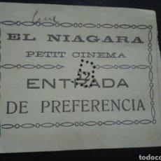 Cinéma: ENTRADA CINE EL NIAGARA PETIT CINEMA 1914 MADRID. Lote 232052390