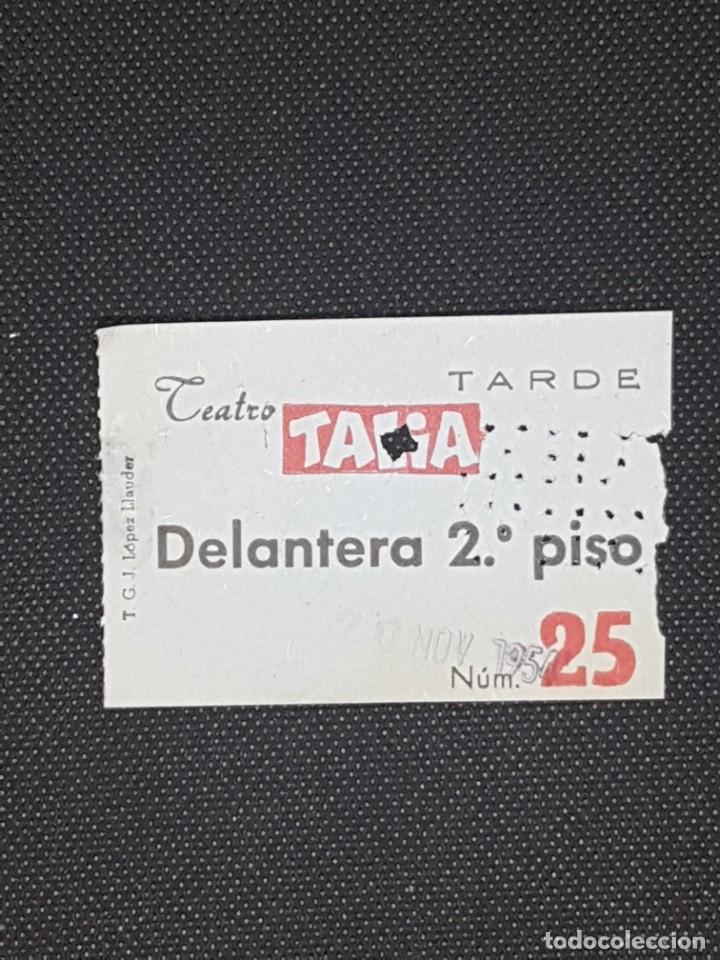 ENTRADA TEATRO TALIA DE BARCELONA AÑO 1954 DELANTERA 2º PISO (Cine - Entradas)